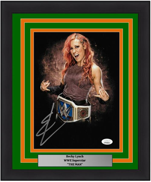 "Becky Lynch Blackout Autographed WWE Wrestling 8"" x 10"" Framed Photo - Dynasty Sports & Framing"