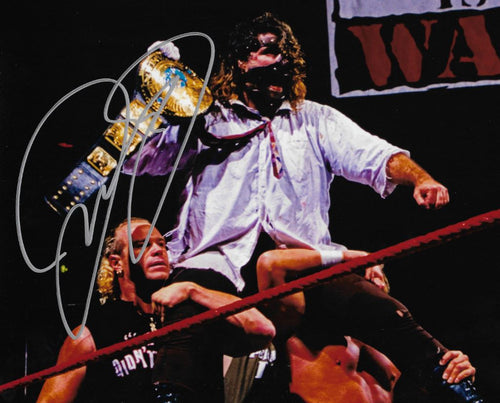 "Mick Foley Mankind First World Championship WWE Wrestling Autographed 8"" x 10"" Photo"