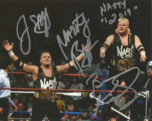 "The Nasty Boys WWE Tag Team Champions Autographed 8"" x 10"" Wrestling Photo - Dynasty Sports & Framing"