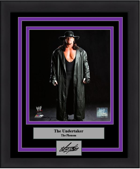 "WWE The Undertaker Engraved Autograph Wrestling 8"" x 10"" Framed & Matted Photo (Dynasty Signature Collection)"