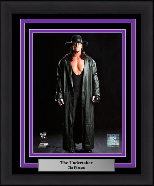 "WWE The Undertaker Wrestling 8"" x 10"" Framed and Matted Photo"