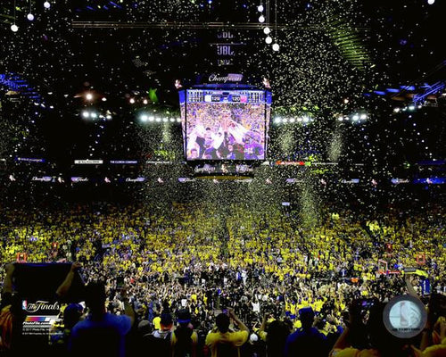 "Golden State Warriors 2017 NBA Champions Oracle Arena, Game 5 Celebration Basketball 8"" x 10"" Photo - Dynasty Sports & Framing"