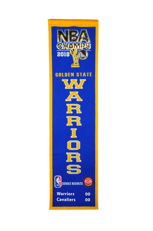 Golden State Warriors 2018 NBA Champions Basketball Heritage Banner - Dynasty Sports & Framing