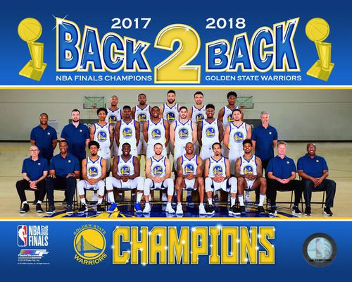 "Golden State Warriors 2018 NBA Champions Team Roster Line-Up NBA Basketball 8"" x 10"" Photo"