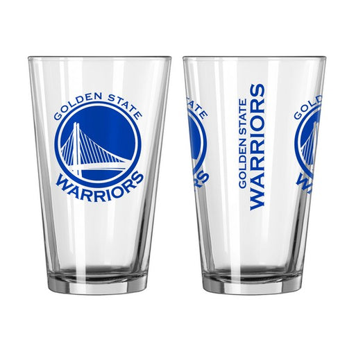 Golden State Warriors NBA Basketball Pint Glass - Dynasty Sports & Framing