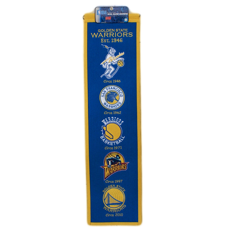 Golden State Warriors NBA Heritage Banner - Dynasty Sports & Framing