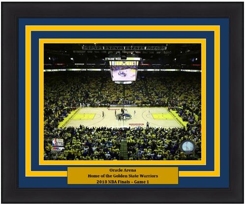 "Golden State Warriors 2018 NBA Finals Oracle Arena, Game 1 NBA Basketball 8"" x 10"" Framed and Matted Stadium Photo"