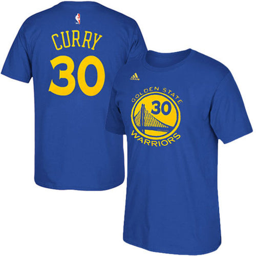 Golden State Warriors NBA Basketball Steph Curry Name & Number T-Shirt - Dynasty Sports & Framing