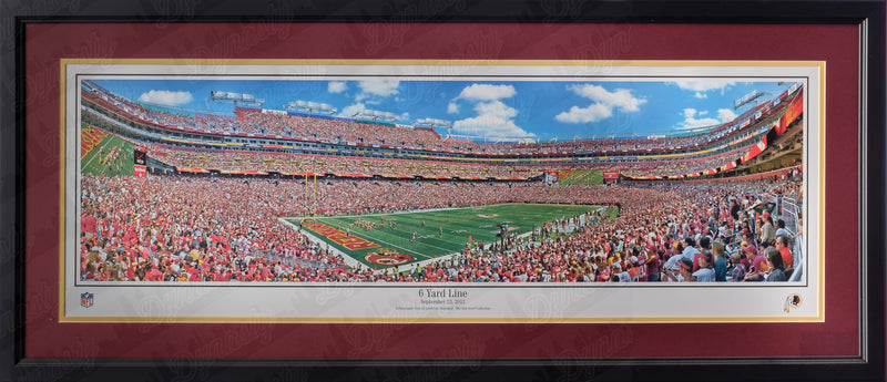 Washington Redskins FedExField 6 Yard Line NFL Football Rob Arra Framed and Matted Stadium Panorama - Dynasty Sports & Framing