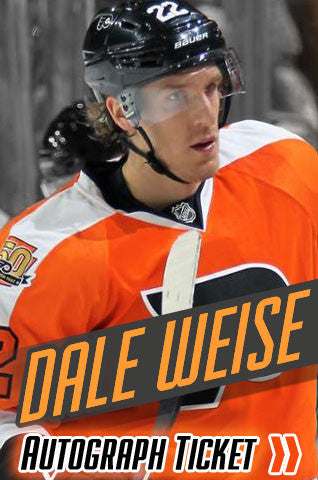 Dale Weise Philadelphia Flyers Experience Tickets - Dynasty Sports & Framing  - 1