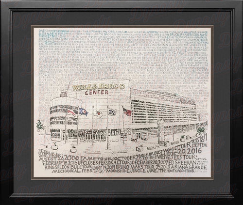 "Philadelphia Wells Fargo Center Concert History Daniel Duffy Word Art 16"" x 20"" Framed Photo"