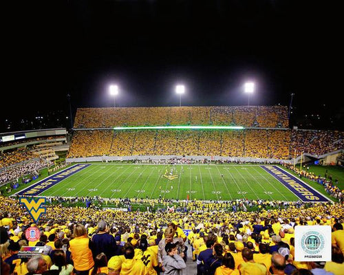 "West Virginia Mountaineers Mountaineer Field at Milan Puskar Stadium NCAA College Football 8"" x 10"" Photo - Dynasty Sports & Framing"