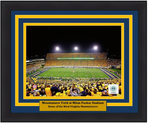 "West Virginia Mountaineers Mountaineer Field at Milan Puskar Stadium NCAA College Football 8"" x 10"" Framed and Matted Photo"