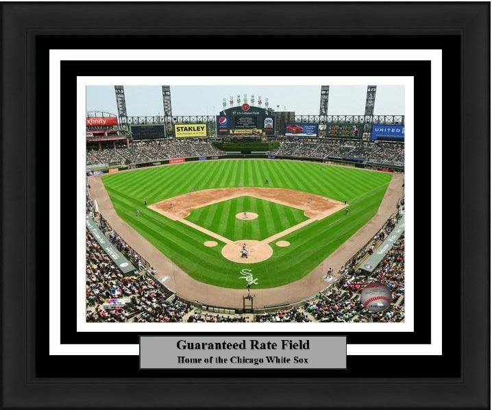 "Chicago White Sox Guaranteed Rate Field Stadium MLB Baseball 8"" x 10"" Framed and Matted Photo"