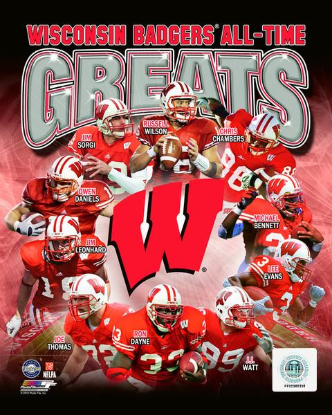 "Wisconsin Badgers All-Time Greats NCAA College Football 8"" x 10"" Photo"