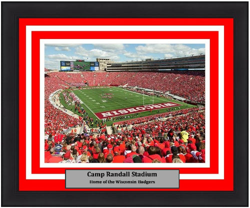 "Wisconsin Badgers Camp Randall Stadium NCAA College Football 8"" x 10"" Framed and Matted Photo"
