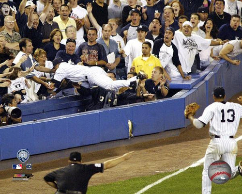 "New York Yankees Derek Jeter Dive Into The Stands (Color) MLB Baseball 8"" x 10"" Photo - Dynasty Sports & Framing"