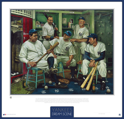 New York Yankees Dream Scene Lithograph Artwork Print by Artist Jamie Cooper - Dynasty Sports & Framing