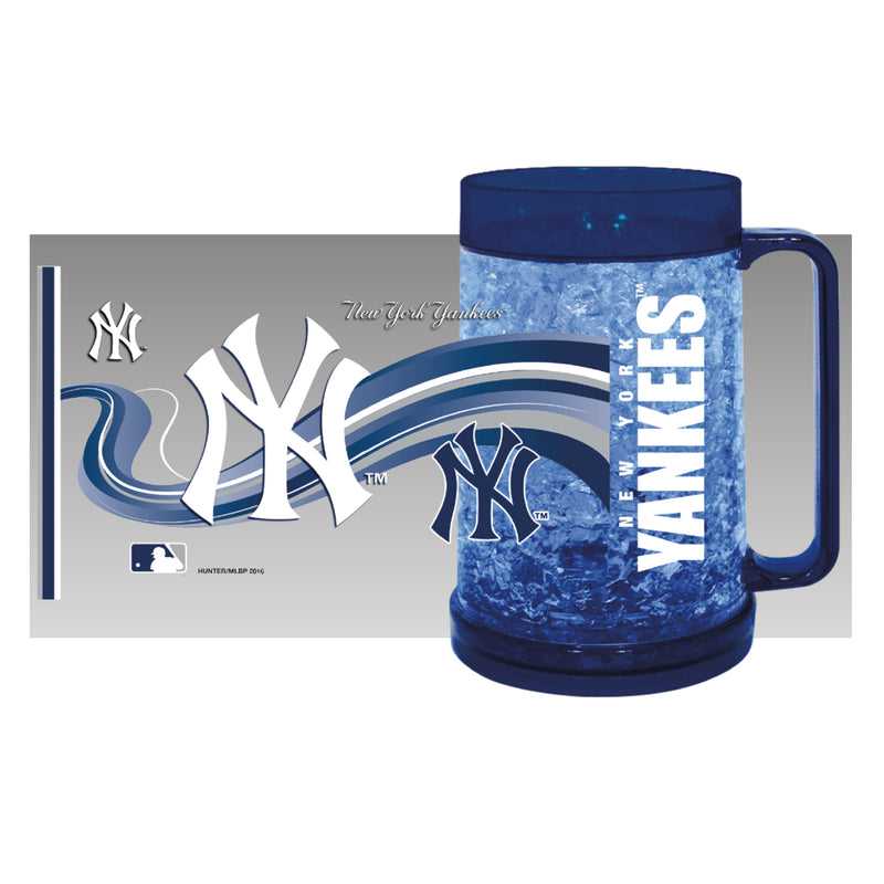 New York Yankees MLB Baseball Logo Freezer Mug - Dynasty Sports & Framing