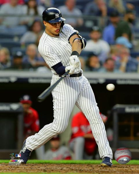 "Giancarlo Stanton Swinging at the Plate New York Yankees MLB Baseball 8"" x 10"" Photo"