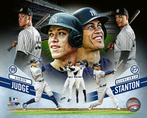 "Aaron Judge & Giancarlo Stanton New York Yankees Collage MLB Baseball 8"" x 10"" Photo - Dynasty Sports & Framing"