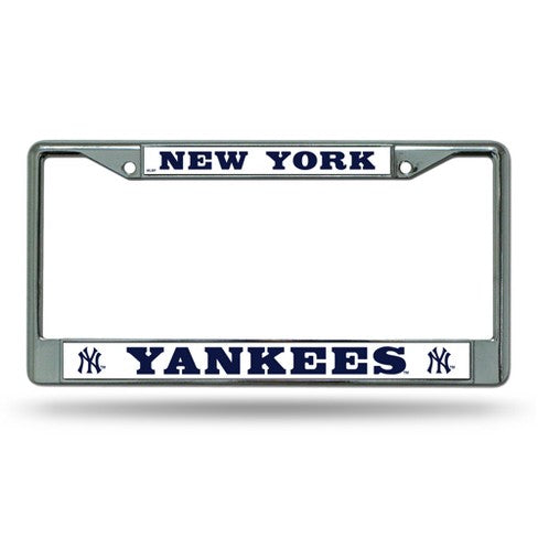 New York Yankees MLB Baseball Chrome License Plate Frame