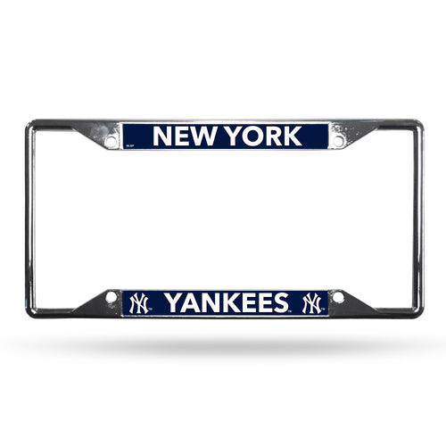 New York Yankees MLB Baseball EZ-View Chrome License Plate Frame