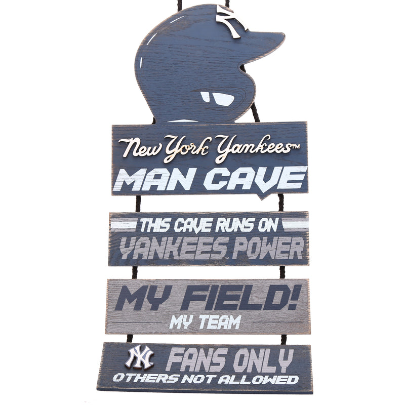 New York Yankees Baseball Wooden Man Cave Sign