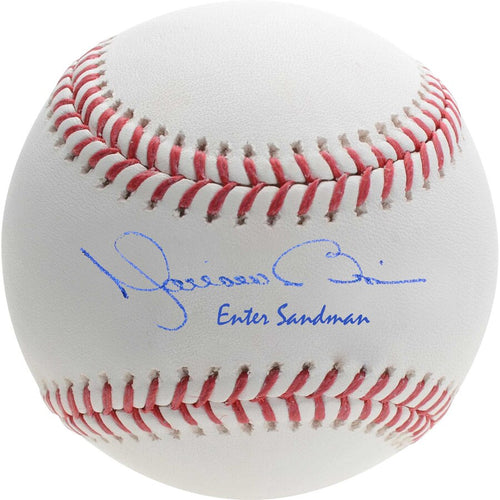 Mariano Rivera New York Yankees Autographed Official Major League Baseball with Enter Sandman Inscription - Dynasty Sports & Framing