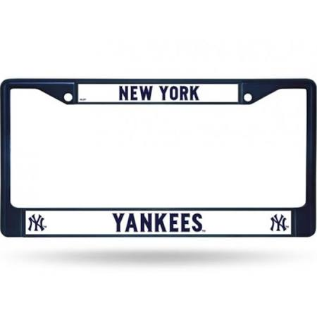 New York Yankees MLB Baseball Chrome License Plate Frame (Navy Blue)