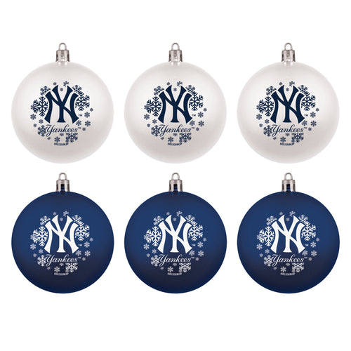 New York Yankees Holiday 6 Piece Ornament Set - Dynasty Sports & Framing