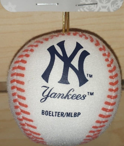 New York Yankees Plush Baseball Ornament