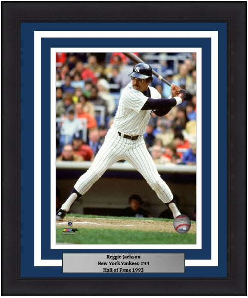 "Reggie Jackson at the Plate New York Yankees MLB Baseball 8"" x 10"" Framed and Matted Photo"