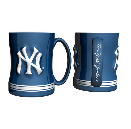 New York Yankees MLB Baseball Logo Relief 14 oz. Mug - Dynasty Sports & Framing