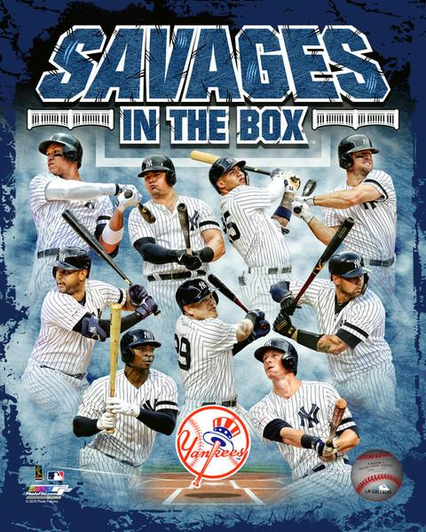 "New York Yankees Savages in the Box MLB Baseball 8"" x 10"" Photo"