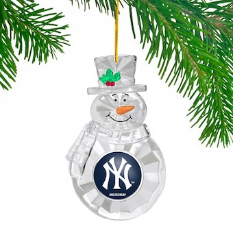New York Yankees Snowman Holiday Ornament - Dynasty Sports & Framing