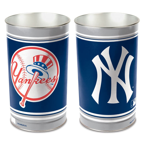 New York Yankees MLB Trash Can