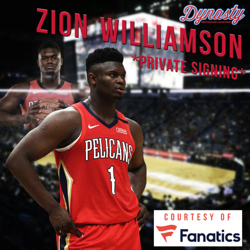 Zion Williamson New Orleans Pelicans Private Autograph Signing Pre-Sale - Dynasty Sports & Framing