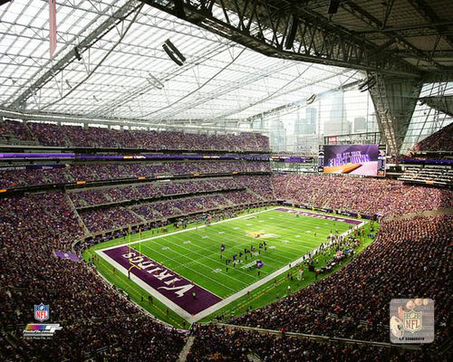 "Minnesota Vikings U.S. Bank Stadium NFL Football 8"" x 10"" Photo"