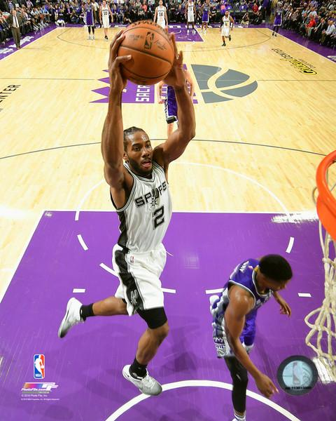 "Kawhi Leonard Slam Dunk San Antonio Spurs 8"" x 10"" Basketball Photo - Dynasty Sports & Framing"