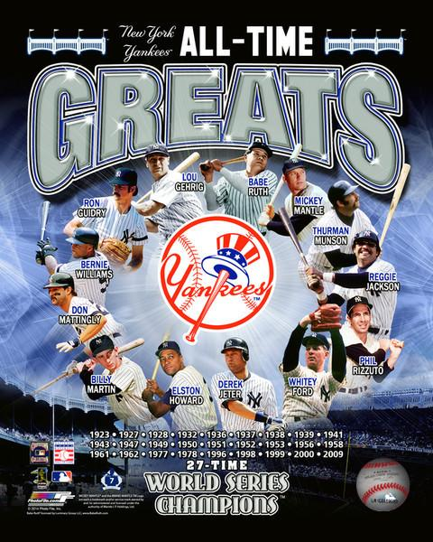 "New York Yankees All-Time Greats Collage MLB Baseball 8"" x 10"" Photo - Dynasty Sports & Framing"