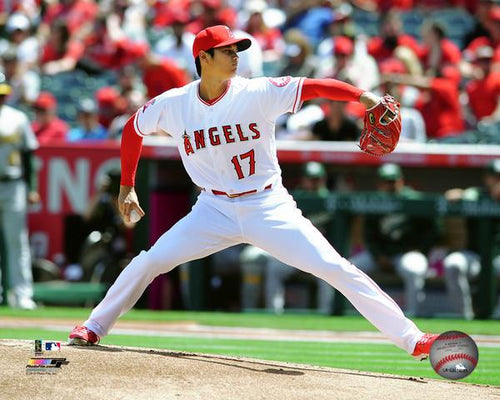 "Los Angeles Angels of Anaheim Shohei Ohtani Pitching MLB Baseball 8"" x 10"" Photo - Dynasty Sports & Framing"