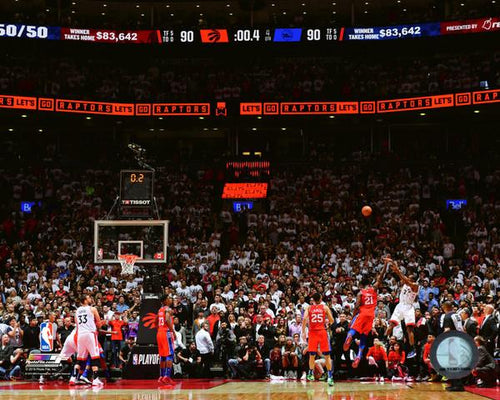 "Kawhi Leonard Toronto Raptors Game 7 Game-Winning Shot v. 76ers NBA Basketball 8"" x 10"" 2019 Playoffs Photo"