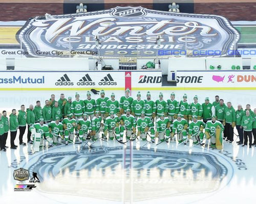 "Dallas Stars 2020 Winter Classic Lineup 8"" x 10"" Hockey Photo - Dynasty Sports & Framing"