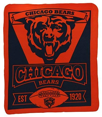 "Chicago Bears NFL Football 50"" x 60"" Singular Fleece Throw Blanket - Dynasty Sports & Framing"