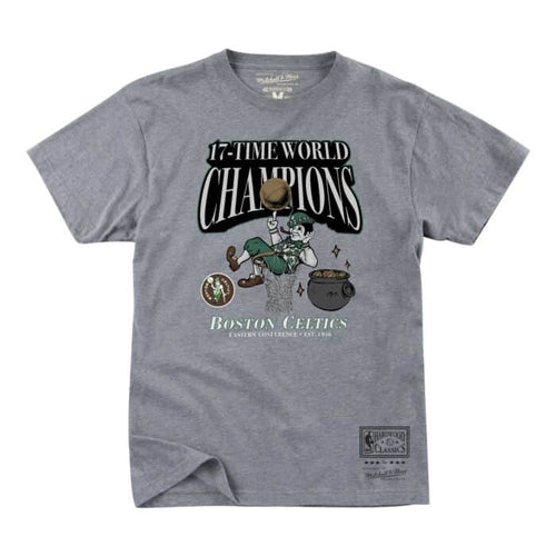 Boston Celtics Throwback Mitchell & Ness 17-Time Champions T-Shirt - Dynasty Sports & Framing