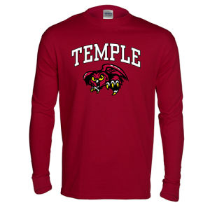 Temple University Owls NCAA College Pride Mascot Long Sleeve - Dynasty Sports & Framing