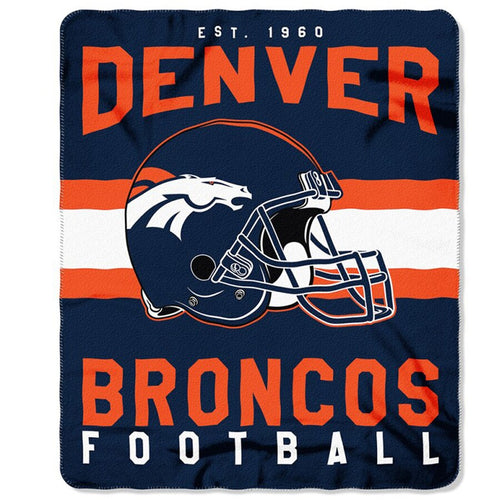 "Denver Broncos NFL Football 50"" x 60"" Marque Fleece Blanket - Dynasty Sports & Framing"