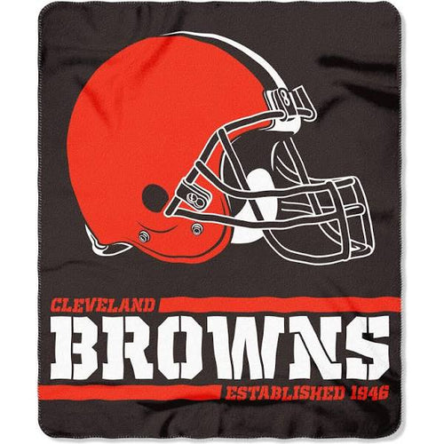 "Cleveland Browns NFL Football 50"" x 60"" Marque Fleece Blanket - Dynasty Sports & Framing"