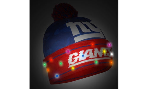 New York Giants Light Up Knit Beanie Hat 7d8020db632c